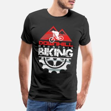 Loved Downhill mountain biking - Men's Premium T-Shirt