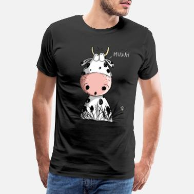 Udder Comical Muh Cow I Beef Comic I Gift - Men's Premium T-Shirt