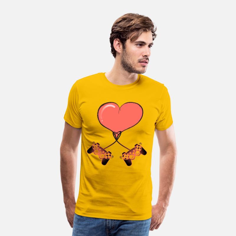 c69cf349 Jeg elsker at spille med dig Video Gamer Love Gift Premium T-shirt mænd |  Spreadshirt