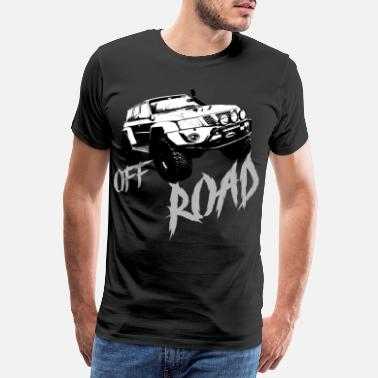 Jeppe Off Road, SUV, Jepp, Truck, Motorsport, Rally - Premium T-shirt herr