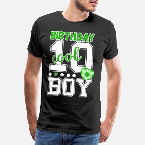 10 Geburtstag Nummer 10 Fussball Junge Manner Premium T Shirt