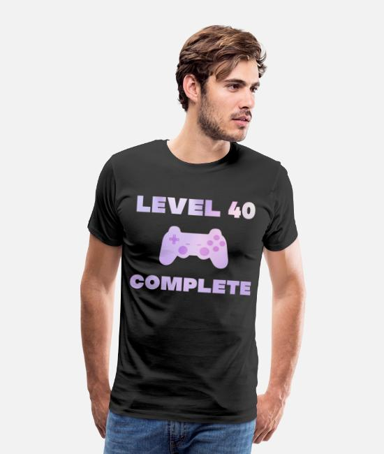 40th Birthday T-Shirts - 40th birthday gaming gamer gift games - Men's Premium T-Shirt black