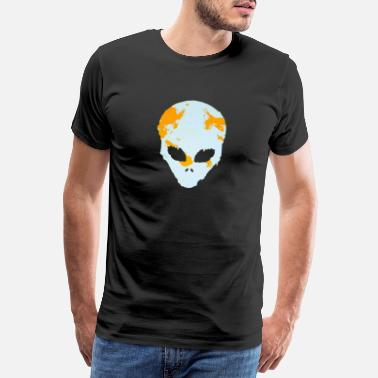 Sciencefiction Alien Gesicht UFO Weltall Space ufo - Männer Premium T-Shirt