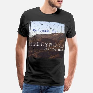 Sans Welcome to Hollywood Vintage - Männer Premium T-Shirt