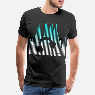 Scratching EQUALIZER and Headphones - Men's Premium T-Shirt