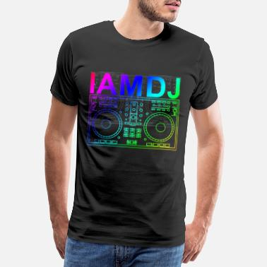 I Love You I am DJ controller scratch party deejay music - Männer Premium T-Shirt