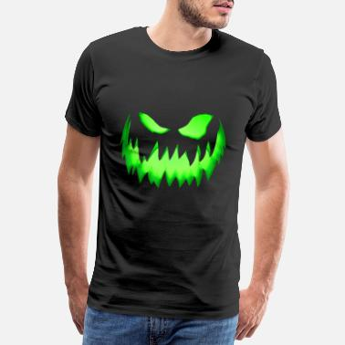 Trick Or Treat Grønt monster ansikt - Premium T-skjorte for menn