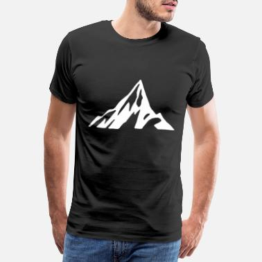 Rock Climbing Mountains mountain range hiker mountain mountaineering nature rock - Men's Premium T-Shirt