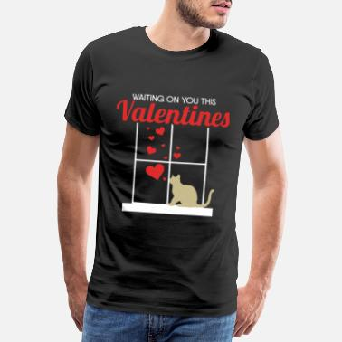 Cute Grandma Sayings Valentine's Day cat gift pet love heart - Men's Premium T-Shirt