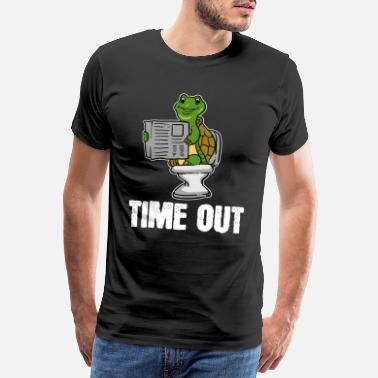Avis Turtle, dyr, time out, avis, toilet, gave, loo - Herre premium T-shirt