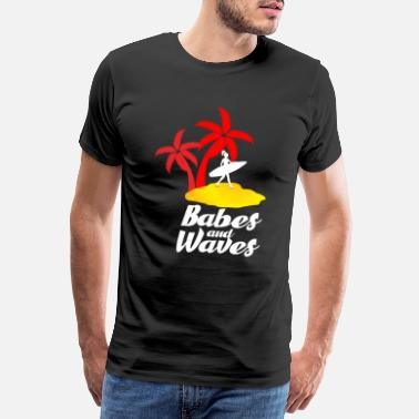 California Surfing Surfing surfing wave gift idea - Men's Premium T-Shirt