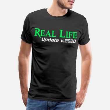 Gaming Real Life Update Funny Gift Idea Gra PC Nerd - Premium koszulka męska