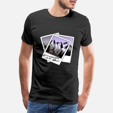 Pentecostal ALL Polaroid Photo v9 Lets escpae to the Hills tent - Men's Premium T-Shirt