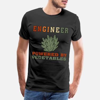 Statistik Funny Vegan Engineer Powered by Vegetables T Shirt - Premium T-shirt mænd