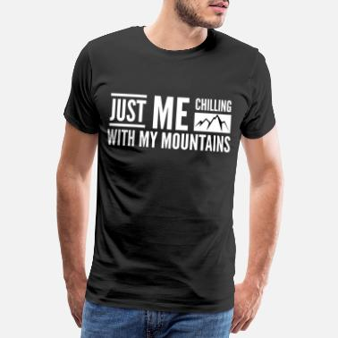 Climber Mountains lovers - hiking saying - Men's Premium T-Shirt