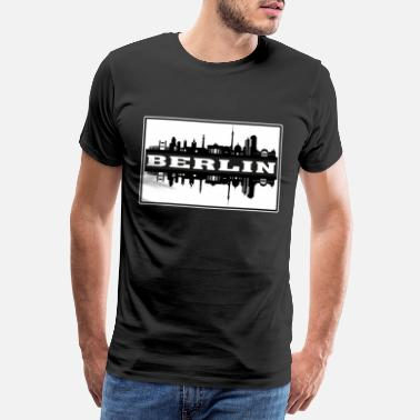 Germany Flag Berlin Germany Travel Souvenir Skyline Silhouette - Men's Premium T-Shirt