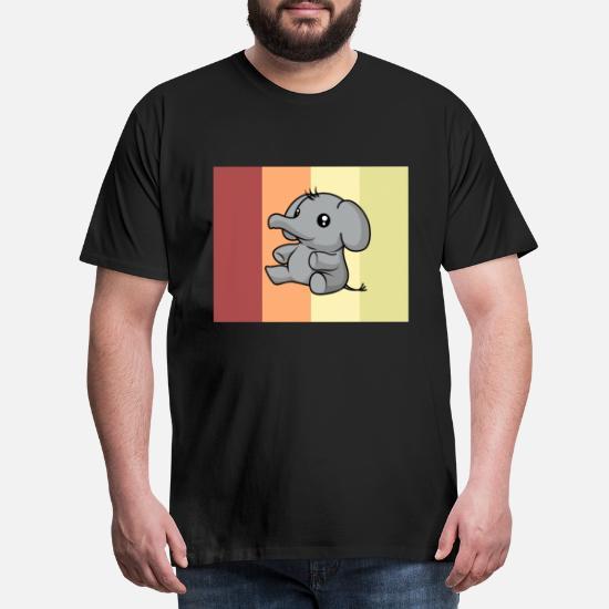 éléphant Kawaii Mignon Dessin Animé Idée Cadeau T Shirt