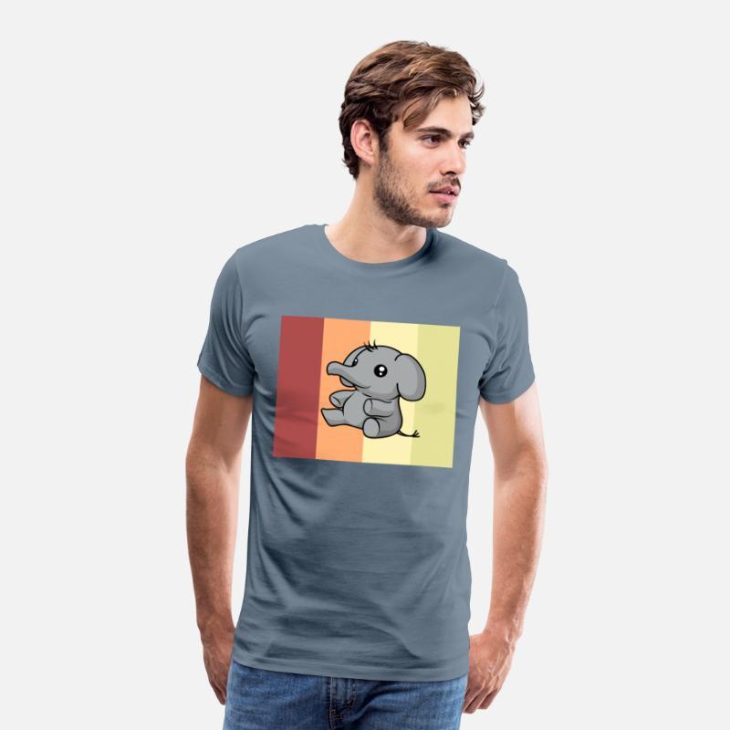 Elefante kawaii carino cartone animato idea regalo maglietta