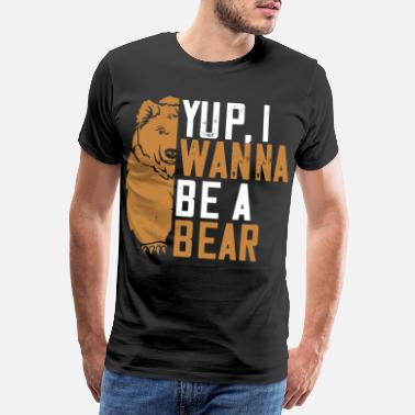 Raider Grizzly Bear Brown Bear Nature Forest Gift 77 - Men's Premium T-Shirt