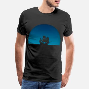 Blue Sky Ship with blue sky - Men's Premium T-Shirt
