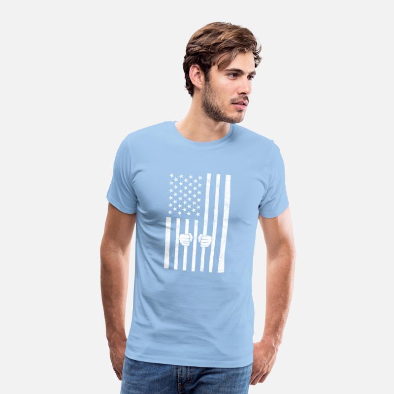 America fengsel I USA i fengsel design Premium T skjorte