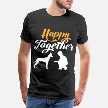 Silhouette Happy Together - Faraon Dog & Dog Owner - Premium koszulka męska