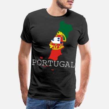 Start portugal flagge - Männer Premium T-Shirt