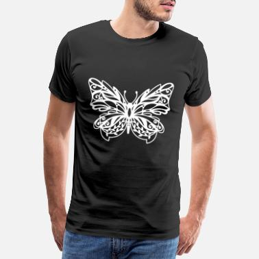 Man Woman Papercut butterfly gift paper cut - Men's Premium T-Shirt