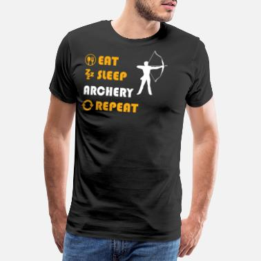 Arche Archery - present for men and women - Männer Premium T-Shirt