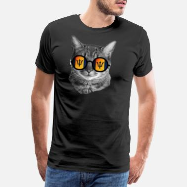 Chat Lunettes T-shirt chat drôle - Barbade - T-shirt Premium Homme