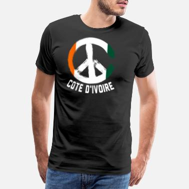 Sign Cote D'Ivoire Peace Sign T-Shirt - Männer Premium T-Shirt