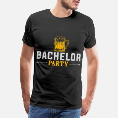 Ölgrillare Bachelor party beer - Premium T-shirt herr
