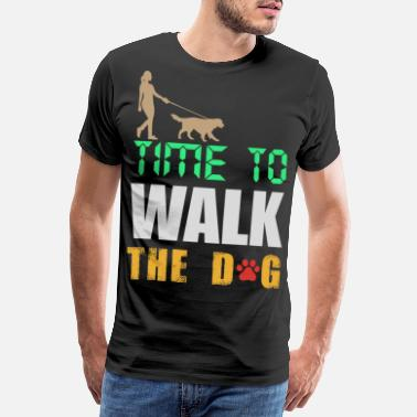 Newspaper Time to go for a walk dog - Men's Premium T-Shirt