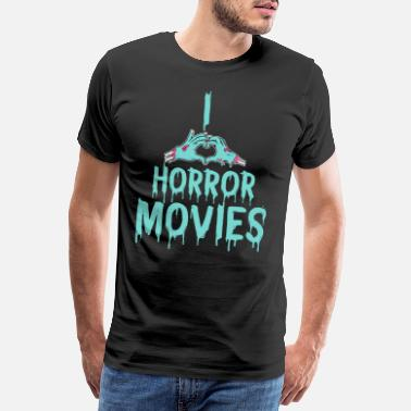 Watch Tv I love scary movies horror movies gift idea - Men's Premium T-Shirt