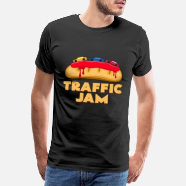 Strawberry Jam traffic chaos - Men's Premium T-Shirt