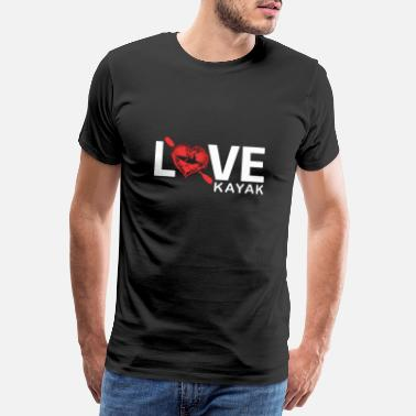 Canoe Kayak love - Men's Premium T-Shirt