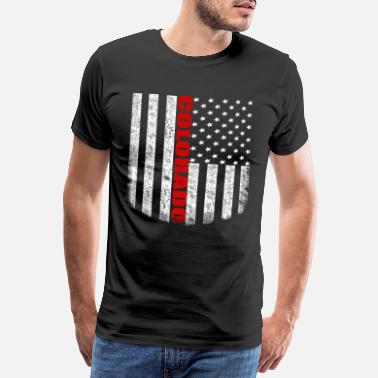Usa Ränder Colorado - Flagga USA - Premium-T-shirt herr