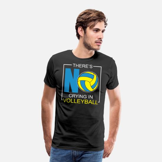 Volleyball T-Shirts - Volleyball Volleyballer Volleyball Set Volleyball - Männer Premium T-Shirt Schwarz