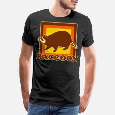 Raccoon Retro raccoon raccoon - Men's Premium T-Shirt