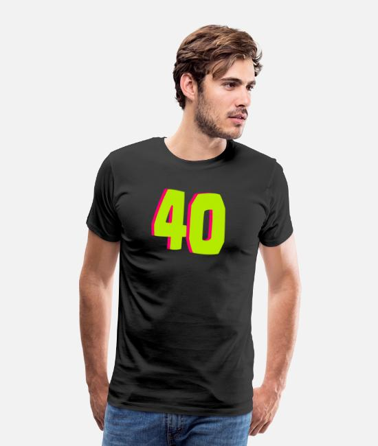 40 Er T-Shirts - 40th birthday - Men's Premium T-Shirt black