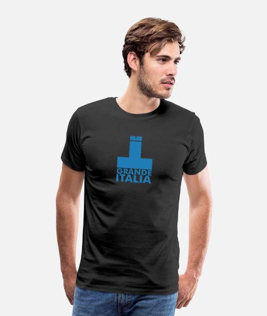 Bandiera T-Shirts - Italia Italy flag - grande italia - provocative - Men's Premium T-Shirt black