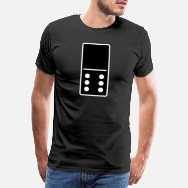 Steen DOMINO STONE 0: 6 - VARIABLE COLOR - VECTOR DESIGN! - Mannen Premium T-shirt