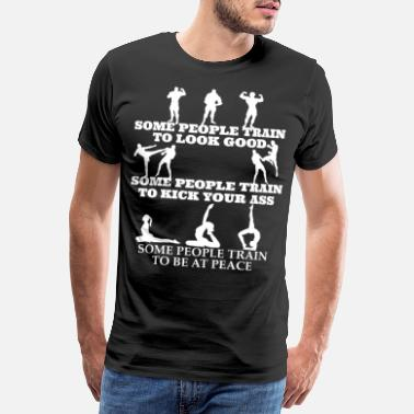 Body Parts Some people are exercising around - Men's Premium T-Shirt