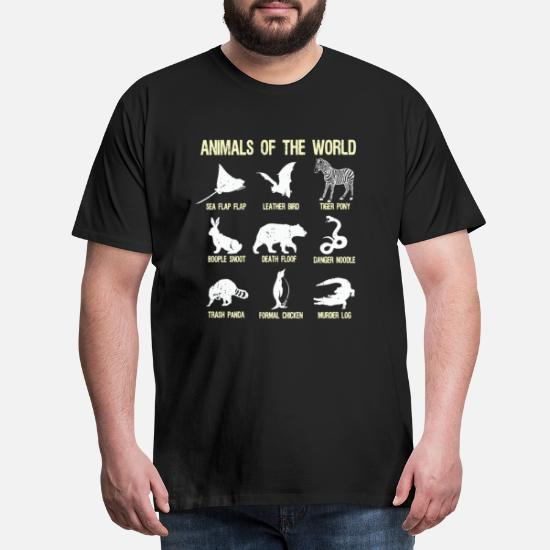 5866136c Animals of the World Funny animal name gift humor - Men's Premium T-Shirt.  Front. Front