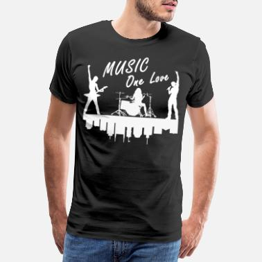 One Night Stand One love music band music - Men's Premium T-Shirt