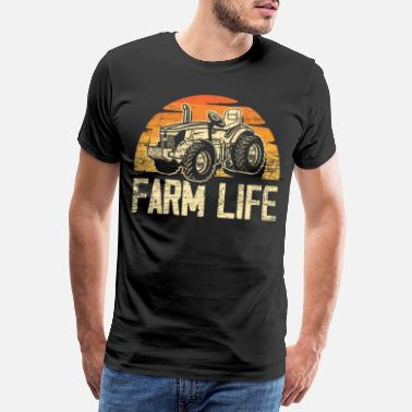 Crop Farmer farming life - Men's Premium T-Shirt