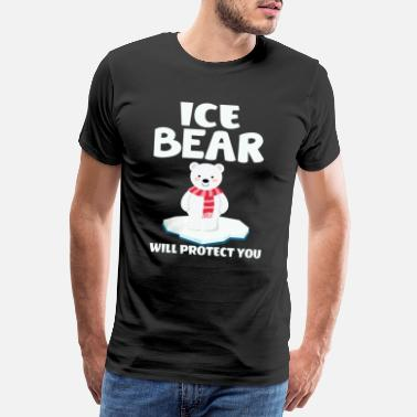 Illustration ICE BEAR vil beskytte dig - Herre premium T-shirt