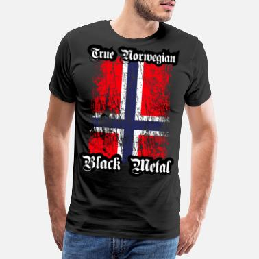 Black Metal Trve/ True Norwegian Black Metal - Männer Premium T-Shirt