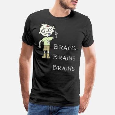 Costume brains brains brains - Men's Premium T-Shirt