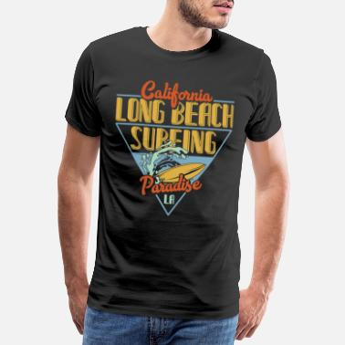 Girls Holiday Long Beach Surfing Surfing SUP Gift - Men's Premium T-Shirt